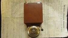 Art Deco Antique Wood, Steel & Brass Electric Doorbell 6-12 volts