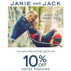Janie And Jack / 1Coupon 10% Entire Purchase Expiry - 2/10/21 / US-CANADA