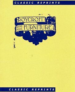 Roycroft Hand-Made Furniture Catalog Reprint - Model Numbers / Scarce Booklet