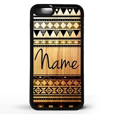 African tribal pattern vintage retro print personalised name phone case cover