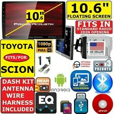 """FITS/FOR TOYOTA & SCION 10.6"""" TOUCHSCREEN CD/DVD BLUETOOTH USB CAR STEREO PKG"""