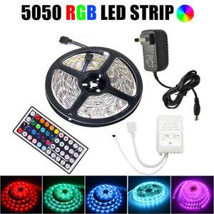 LED Strip Light RGB 5050 SMD Flexible Ribbon RGB Stripe 1M 5M 10M Full Kit