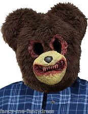 Homme halloween brown effrayant zombie teddy bear halloween fancy dress costume masque
