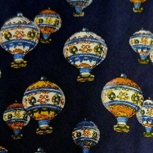 Blue Orange Hot Air Balloons Silk Tie