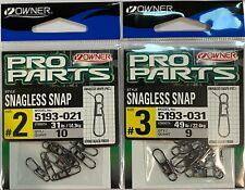 Owner Snagless Snap 5193 Strike Black Finish - Choose Size
