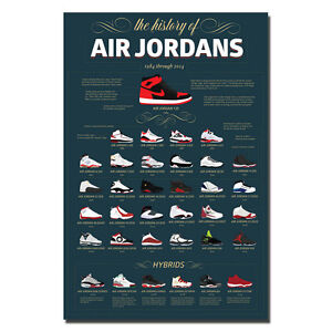 Michael Jordan Shoes MJ 23 MVP Silk Poster 13x20 32x48 inch J116