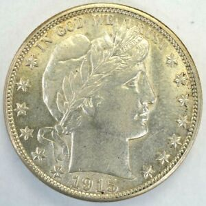 1915 D BARBER HALF DOLLAR  90% SILVER US COIN H1174