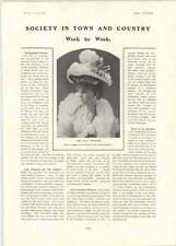 1902 Miss Violet Monckton Mrs Whitelaw Reid Duchess Of Leeds