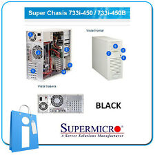Supermicro 733i-450b 450w PSU Black - Tower Server chassis Cse-733i-450b