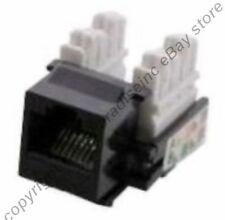 Lot50 Cat5e RJ45 Keystone Network/Ethernet 10/100/1000 Jack/Port 110Punch{BLACK