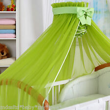 STUNNING /BABY/COT/COTBED BIG CANOPY DRAPE/480cm wide + FREE STANDING HOLDER/ROD