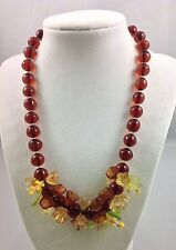 DELICATE GRIPOIX WITH FLOWERS NECKLACE!