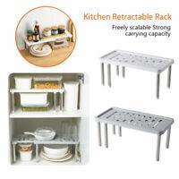 Adjustable Kitchen Cupboard Shelf Storage Rack Bathroom Organiser Cabinet Holder