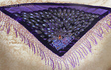 Purple Velvet Scarf Gypsy Tribal Fusion Belly Dance ATS Gothic Steampunk CosPlay