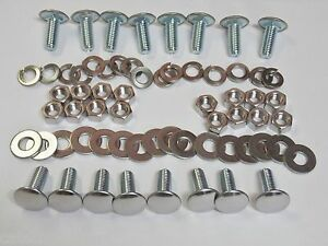 16 pc Plymouth A/B/C/E Bumper Bolts Nuts Locks & Flat Washers Stainless Capped