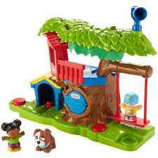 Fisher-Price Little People Swing & Share Treehouse Playset DYF19 NEW