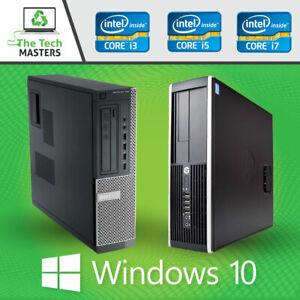HP/Dell Intel i3 Dual Core / i5 Quad Core Desktop SFF Tower PC Windows 10