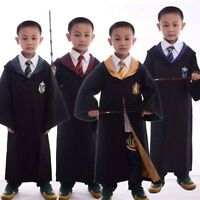 Kids Harry Potter Gryffindor/Slytherin/Hufflepuff/Ravenclaw Cloak Robe Cosplay