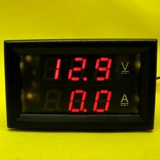 LED Voltmeter Current Dual Display 50 AMP 12V 24V DC Volt Meter 50A Shunt Solar