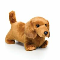 DEMDACO Nat & Jules Playful Small Dachshund Dog Kids Plush Stuffed Animal Toy