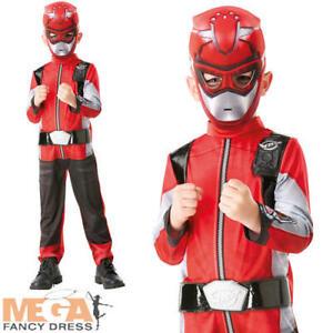 Deluxe Red Beast Morpher Boys Fancy Dress Power Rangers Kids Superhero Costume