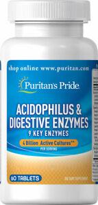 Puritan's Pride Acidophilus & Digestive Enzymes 60 Tablets