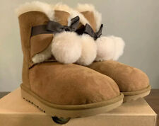 UGG KIDS GITA POM POM 1017403K CHESTNUT KIDS BOOTS, SIZE 3, BRAND NEW AUTHENTIC