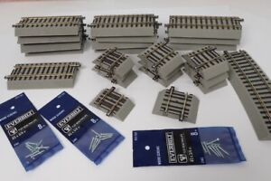 Lot Of 24 American Flyer S Gauge Short 2-Rail Fast Track Sections