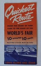 Long Island Railroad 1939 Travel  Brochure  - Quickest Route to World's Fair