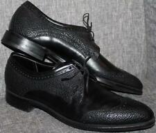 Vintage 60's FREEMAN BOOTMAKER GUILD Black LEATHER Wingtip Oxford Shoes MINT 10A
