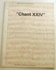 """GERARD GAROUSTE """"chant xxiv """"  L'album à découper 1988 CAPC"""