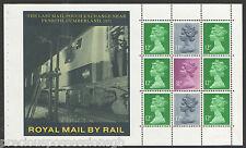 (TSW3) GB QEII Stamps BRITISH RAIL Prestige Booklet Pane ex DX7 1986