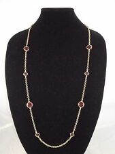 Carolee Gold BERRY CHIC Breast Cancer Foundation Purple Red Long Necklace