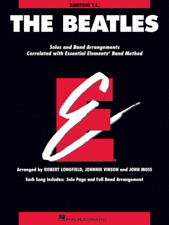 THE BEATLES-ESSENTIAL ELEMENTS FOR BAND-BARITONE T.C. MUSIC BOOK NEW ON SALE!!