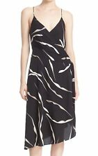 Diane von Furstenberg NEW Black Womens 14 Abstract Print A-Line Dress $448 584