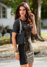 Jersey-Kleid, Laura Scott. Schwarz-leo. Gr. 38. NEU!!! KP 79,99 € SALE%%%