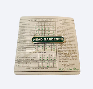 Wild & Wolf Old School Vintage Head Gardener Badge enamel pin Gardening Gift