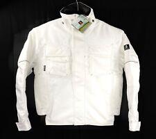 NWT Mascot Matar Hardwear Mens White Pilot Motorcycle Jacket Size Small