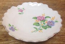 Adderley Floral Bone China England Hydrangea Flowers Sauce Dish Pin Tray Lovely