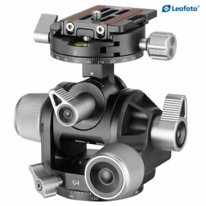 Leofoto G4 Geared Tripod Head Arca Swiss Compatible 3 Direction Precise NEW