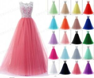 Long Lace Wedding Bridesmaid Dresses Formal Party Gown Ball Prom Dresses 6-28