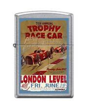 Zippo 207 TROPHY RACE CAR london level open wheel vintage poster RARE Lighter