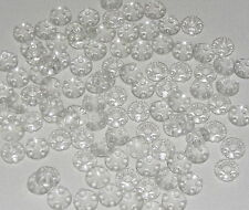 Lego Lot of 100 New Trans-Clear Plates Round 2 x 2 w/ Rounded Bottom Boat Studs