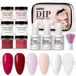 10pc Nail Dip dipping powder acrylic glitter nail art manicure starter set kit