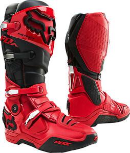 Fox Racing Instinct Boot Stiefel - Motocross MX Cross Enduro Schwarz Rot *NEU*