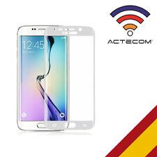 Actecom protector cristal templado para Samsung Galaxy S6 Edge blanco curvo