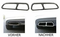 Auspuffblenden Edelstahl Abdeckung Cover Chrome Set für Audi A6 C7 A7