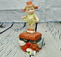 "Vintage Enesco 1997 ""Mommy I Teared It"" Ring Trinket Pill Box Lucie Attwell Ltd."