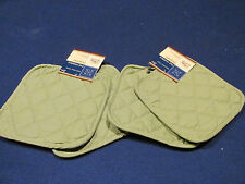"""Lot of 4 ~ Sage Pot Holders   7"""" X 7 """" ~ Free Shipping"""
