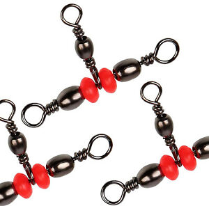 30pcs Fishing Three Way Swivel Connector 3 way Barrel Swivel Tackle Accessoires